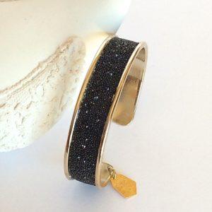 Bracelet jonc doré medley mordoré Swarovski