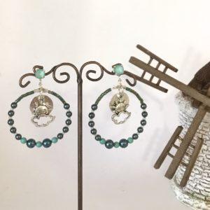 Boucles d'oreilles perles crystal Swarovski