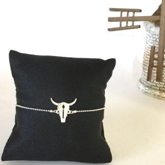 Bracelet argent tête de taureau