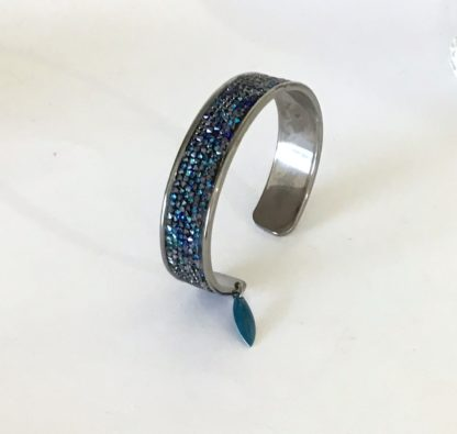 Bracelet jonc finerocks bleu Swarovski
